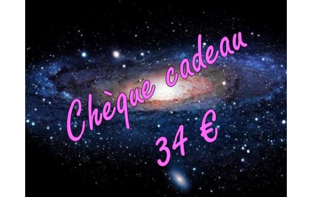 Chèque cadeau 34 €